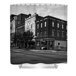 Early Morning In Wilmington In Black And White Shower Curtain