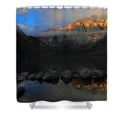 Early Morning Light At Convict Lake In The Eastern Sierras Shower Curtain