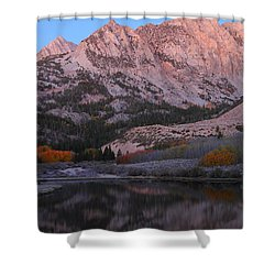 Early Morning Light At North Lake In The Eastern Sierras During Autumn Shower Curtain
