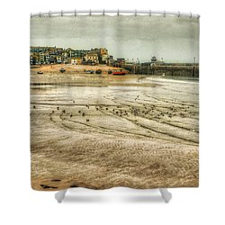 Early Morning, Low Tide Shower Curtain