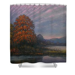 Early Morning Mist Shower Curtain by Sean Conlon