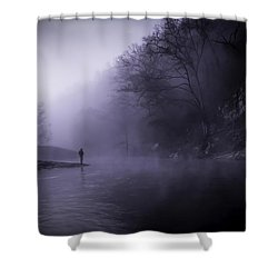 Early Morning On The Lower Mountain Fork River Shower Curtain