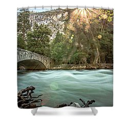 Early Morning On The Merced River Shower Curtain