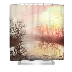 Shower Curtain featuring the photograph Early Morning On The River by Debra and Dave Vanderlaan