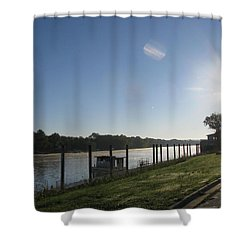 Early Morning On The Savannah River Shower Curtain by Donna Brown