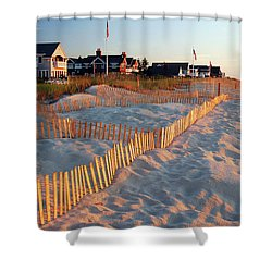 Early Morning On The Shore Shower Curtain
