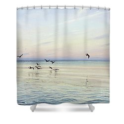 Early Morning Patrol Shower Curtain