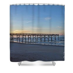 Early Morning Pier Shower Curtain