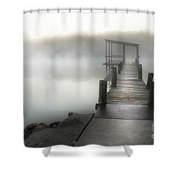 Yesterday's Early Morning Pier Shower Curtain by Tamyra Ayles