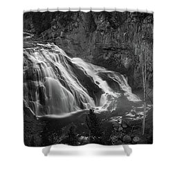 Early Morning Steam Falls Shower Curtain