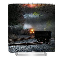 Early Morning Steel Shower Curtain