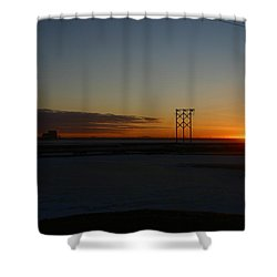 Early Morning Sunrise Shower Curtain by Anthony Jones