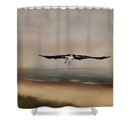 Shower Curtain featuring the photograph Early Morning Takeoff by Kim Hojnacki