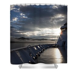 Shower Curtain featuring the photograph Early Morning Travel To Alaska by Yvette Van Teeffelen