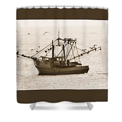 Early Morning Trawling  Shower Curtain