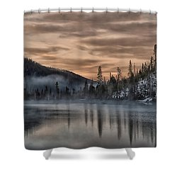 Early Morning Yellowstone Shower Curtain by CR  Courson