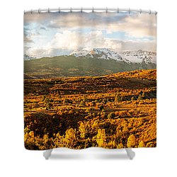Early October Morning In The Rocky Mountains Shower Curtain