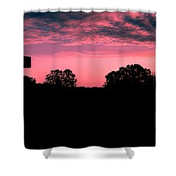 Early On The Hill Shower Curtain