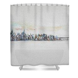Early Skyline Shower Curtain