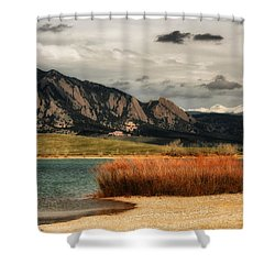 Early Snow On Fall Shower Curtain by Juli Ellen