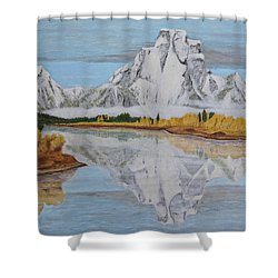 Early Snowfall At Oxbow Shower Curtain