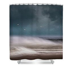 Early Spring At Nauset Beach Shower Curtain