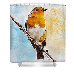 Shower Curtain featuring the painting Early Spring by Greg Collins