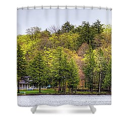 Early Spring Panorama Shower Curtain by David Patterson
