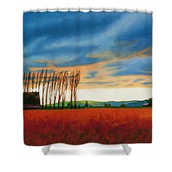 Early Spring, Skagit Valley Shower Curtain