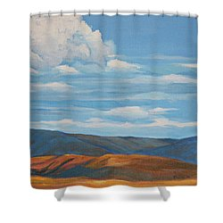 Early Summer Blue Hills Shower Curtain