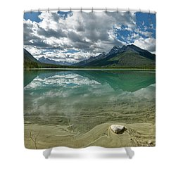 Shower Curtain featuring the photograph Early Summer Day On Goat Pond by Sebastien Coursol