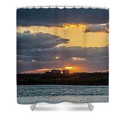 Early Sun Shower Curtain by Nance Larson