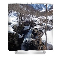 Early Thaw Shower Curtain