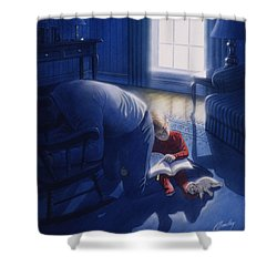 Early Will I Seek Thee Shower Curtain by Cliff Hawley