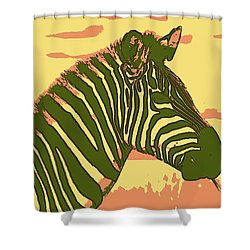 Earned Stripes Shower Curtain
