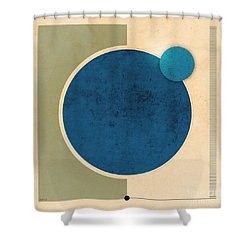 Earth And Moon Graphic Shower Curtain by Phil Perkins