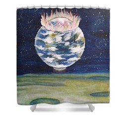 Earth Aura Shower Curtain