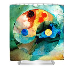 Earth Balance - Yin And Yang Art Shower Curtain