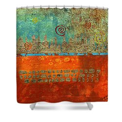 Earth Below Shower Curtain