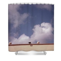 Earth Calling Sky  Shower Curtain