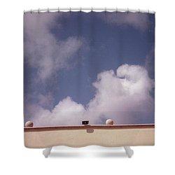 Earth Calling Sky  Shower Curtain