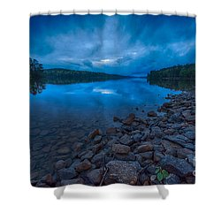 Earth Day Rain At The Tatoe Hole  Shower Curtain by Robert Loe
