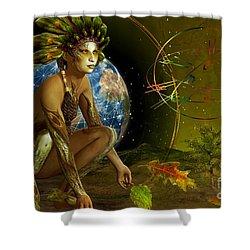 Earth Elemental Shower Curtain