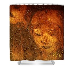 Shower Curtain featuring the painting Earth Face by Winsome Gunning