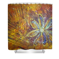 Earth Flower Shower Curtain