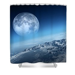 Earth Icy Ocean Aerial View Shower Curtain