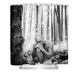 Earth Man Shower Curtain