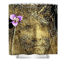 Shower Curtain featuring the photograph Earth Memories - Desert Flower # 2 by Ed Hall