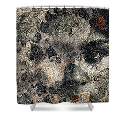 Shower Curtain featuring the photograph Earth Memories - Stone # 7 by Ed Hall