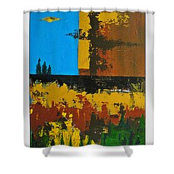 Earth Number Four Shower Curtain by Scott Haley